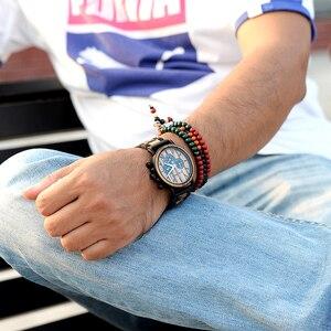 Image 2 - Relogio Masculino בובו ציפור עץ אישית שעון גברים יוקרה הכרונוגרף צבאי שעונים אישית מתנה בשבילו Dropshipping