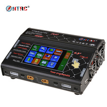 "HTRC HT206 AC/DC DUO 200 Watt * 2 20A * 2 Dual Port 4,3 ""Farbe LCD Touch bildschirm RC Balance Ladegerät für Lilon/LiPo/LiFe/LiHV Batterie"