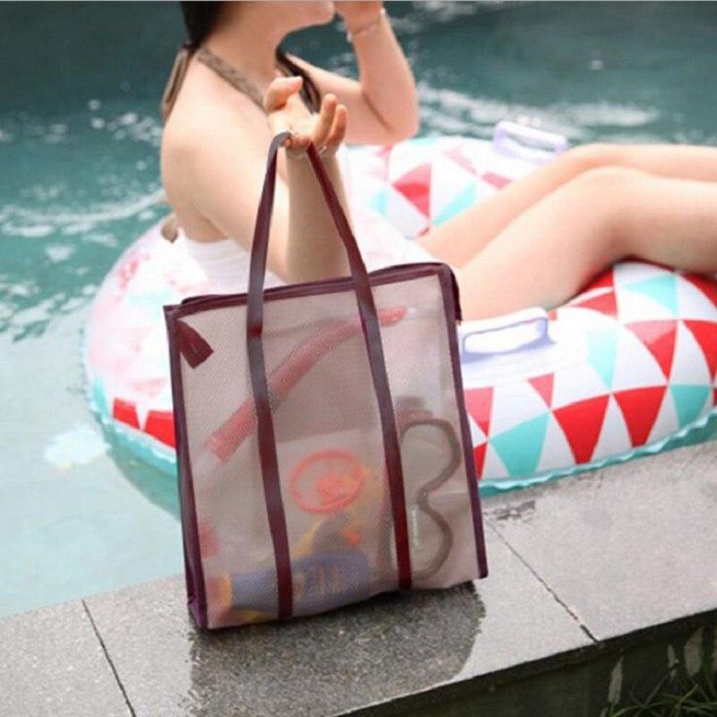 New Paris fashion transparent beach Bag PVC lattice Handbags lady Casual Tote High quality waterproof handbag Bolsas de Praia