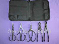 brand new garden tools set multi function bonsai tools kit five pieces set scissors Newbie essential handmade