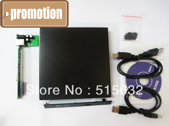 Laptop External USB 2.0 CD DVD ROM Portable Drive Enclosure IDE External Case