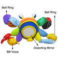 baby multifunctional crab rattle toys bed hanging bell ring  soft safety mirror BB teethers cloth infant educational plush toys