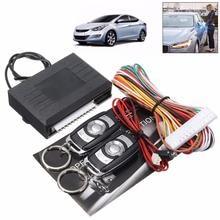 Kit de Sistemas de Alarma de Coche Universal Auto Remoto Cerradura de La Puerta De Bloqueo Del Vehículo Sistema de Entrada Sin Llave Con Los Reguladores Alejados