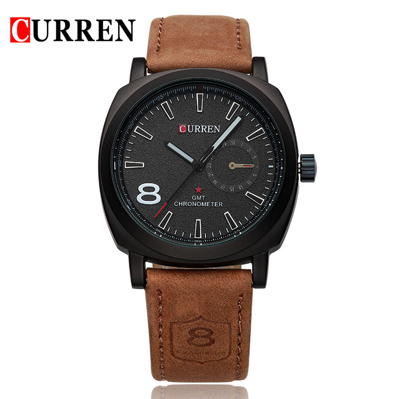 Curren 8139 Luxury Brand Sport Men Watch Quartz Fashion Casual Wristwatch Military Army  Leather Band Watches Reloj Masculino jedir reloj hombre army quartz watch men brand luxury black leather mens watches fashion casual sport male clock men wristwatch