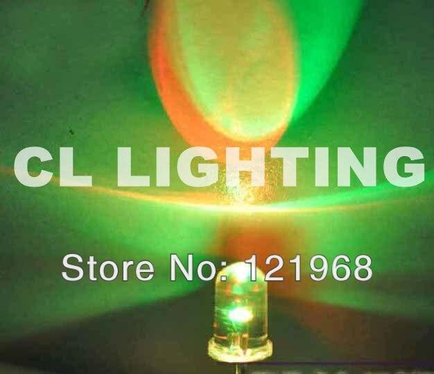 50 x LED 5mm matt//diffus Farbwechsel RGB Auto Regenbogen langsam