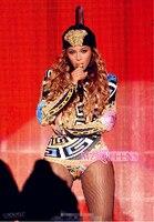 S XXXL! Для женщин новый этап 2014 DJ певица Мода многоцветные одна часть вилка костюм плюс размер пальто