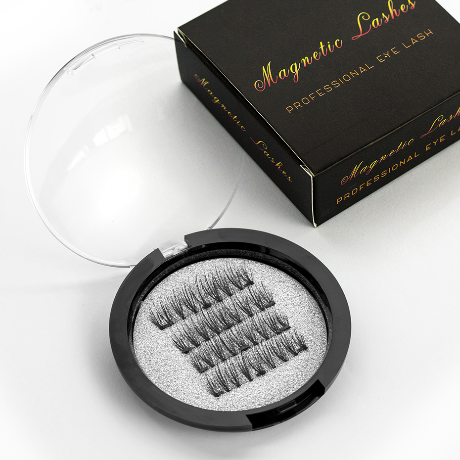 <font><b>Shozy</b></font> <font><b>Magnetic</b></font> <font><b>eyelashes</b></font> with 3 magnets handmade 6D magnet lashes natural false <font><b>eyelashes</b></font> comfortable with gift box-KS03-3 image