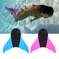Children Swimming Fins Mermaid Swim Fins Soft Elastic Water Sports Diving Scuba Slippers For Adults Foot