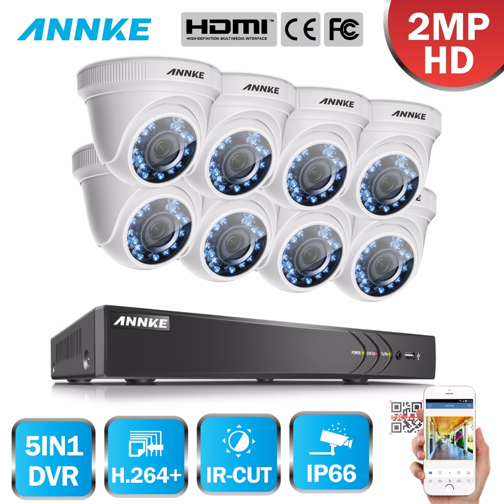 цена ANNKE HD 1080P 8CH CCTV System 8 channel DVR KIT 1080P Video Recorder 8pcs 3000TVL 2MP Security Camera Home Surveillance Kit