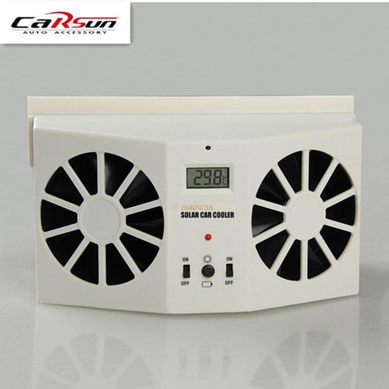 Car Styling Sun Solar Power De Voitures Auto Air Vent Frais ventilateur Refroidisseur Radiateur Système de Ventilation, Peut être utiliser batterie de voiture Air purificateurs