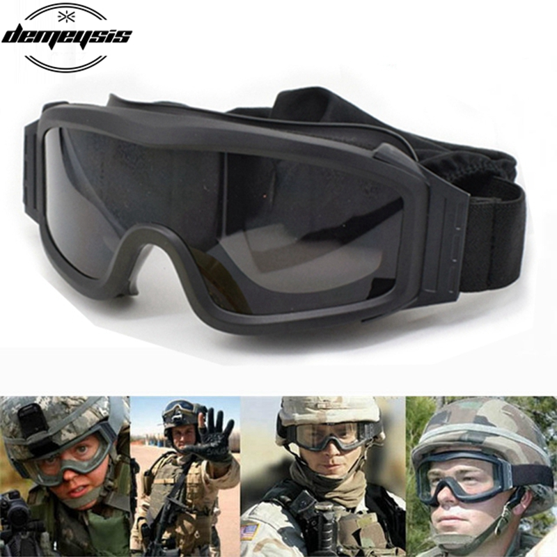Hot Sale 3 φακούς στρατού προφίλ γυαλιά Στρατιωτικά τακτικής γυαλιά γυαλιά προστασίας για μοτοσυκλέτα Wargame