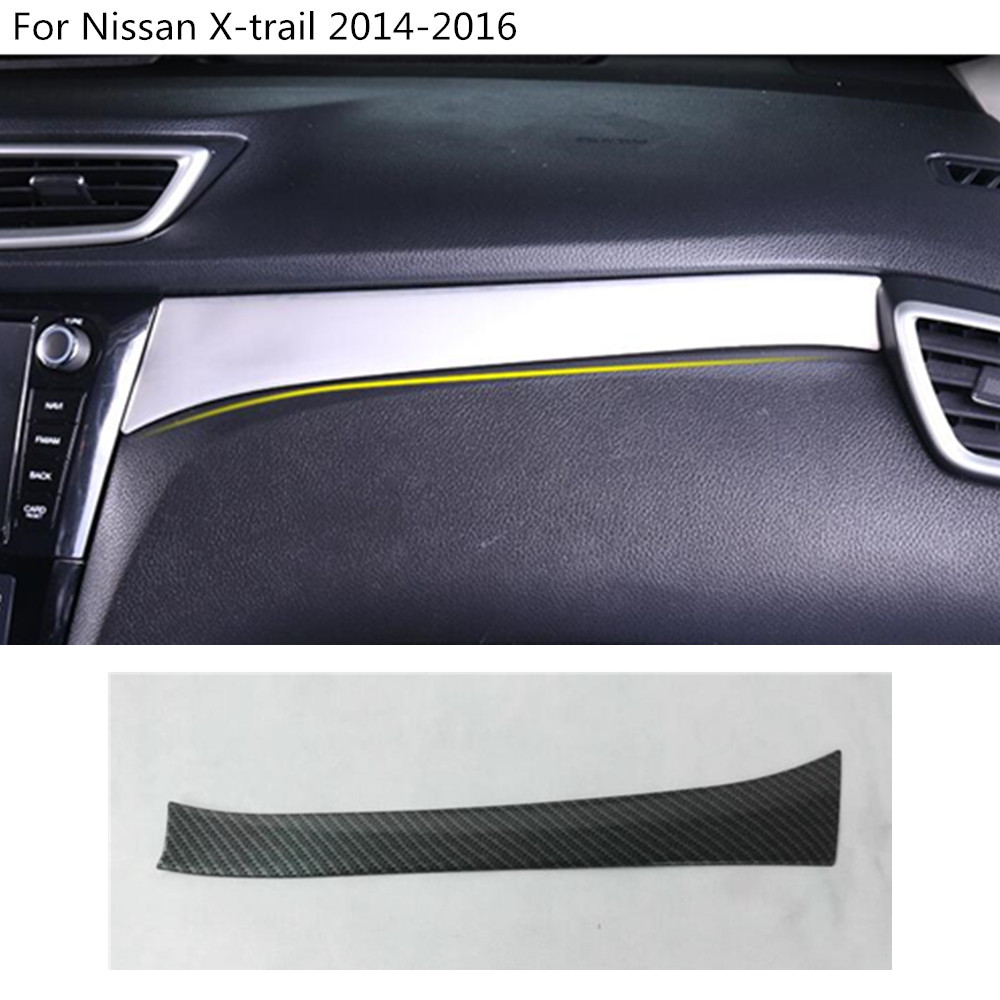 car styling inner cover trim Middle console control dashboard panel For Nissan X-trail xtrail T32/Rogue 2014 2015 2016 for nissan x trail xtrail t32 rogue 2014 2015 2016 abs chrome front hood grill cover bonnet trim cover car styling accessories