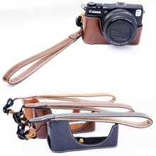 Pu leather camera case inferior metade conjunto de tampa do corpo para canon powershot g1x mark ii g1x g1x m2 g1x2 ii