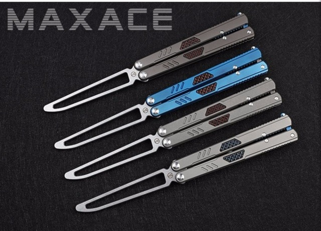 US $370 0 |Maxace Convenant Gauss Folding Practice BALISONG Trainer  Training Blunt Knife Free Shipping-in Knives from Tools on Aliexpress com |