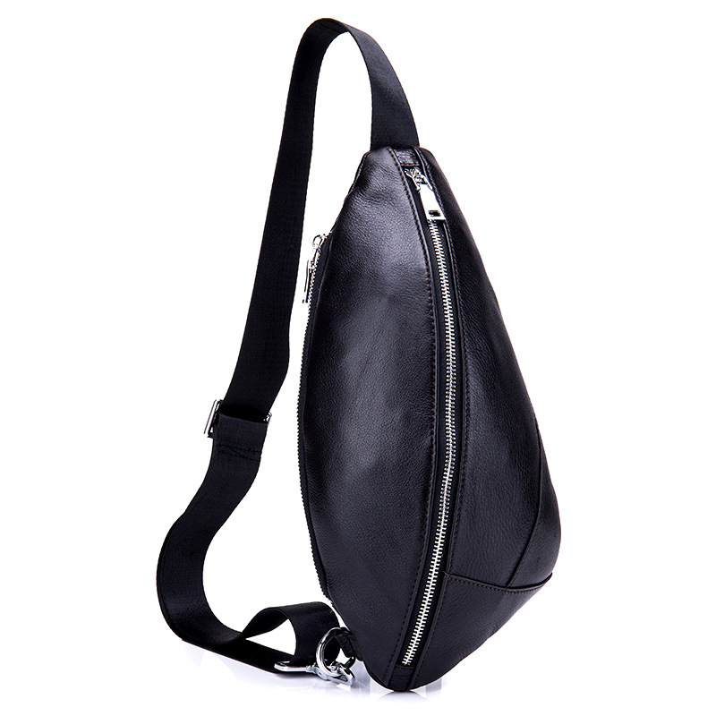 Men Casual Messenger Bags Shoulder Bags Fashion Genuine Leather Male Crossbody Bag Cowhide Black Chest Bag High Quality men s bags chest pack casual single shoulder back strap male bag split leather high capacity chest bag crossbody leather