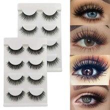 NEWCOME 3 Pairs 3D Faux Mink Hair False Eyelashes Natural/Thick Long Eye Lashes Wispy Makeup Tools