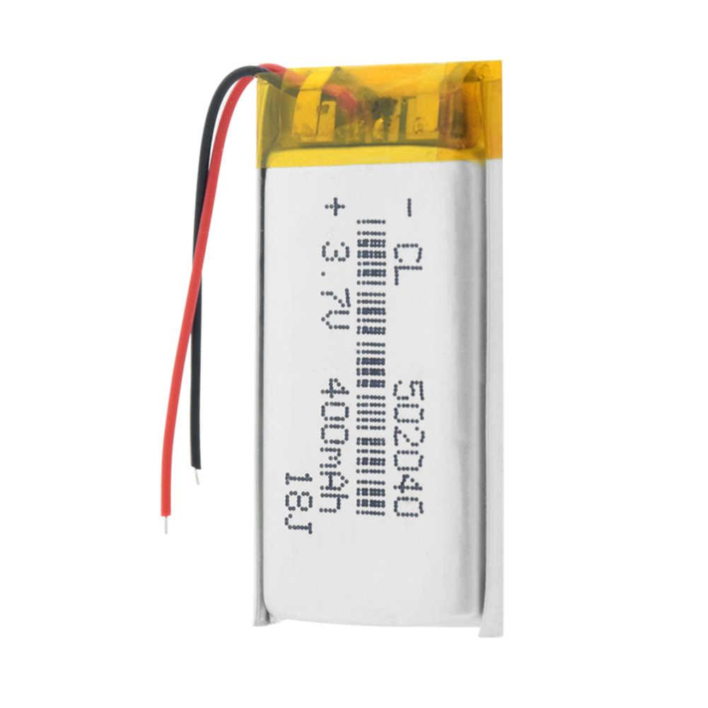 Перезаряжаемый 400mAh Lipo аккумулятор 502040 литий-ионный Lipo ячеек литий-полимерный аккумулятор для gps MP3 MP4 игрушечного автомобиля BT спикера