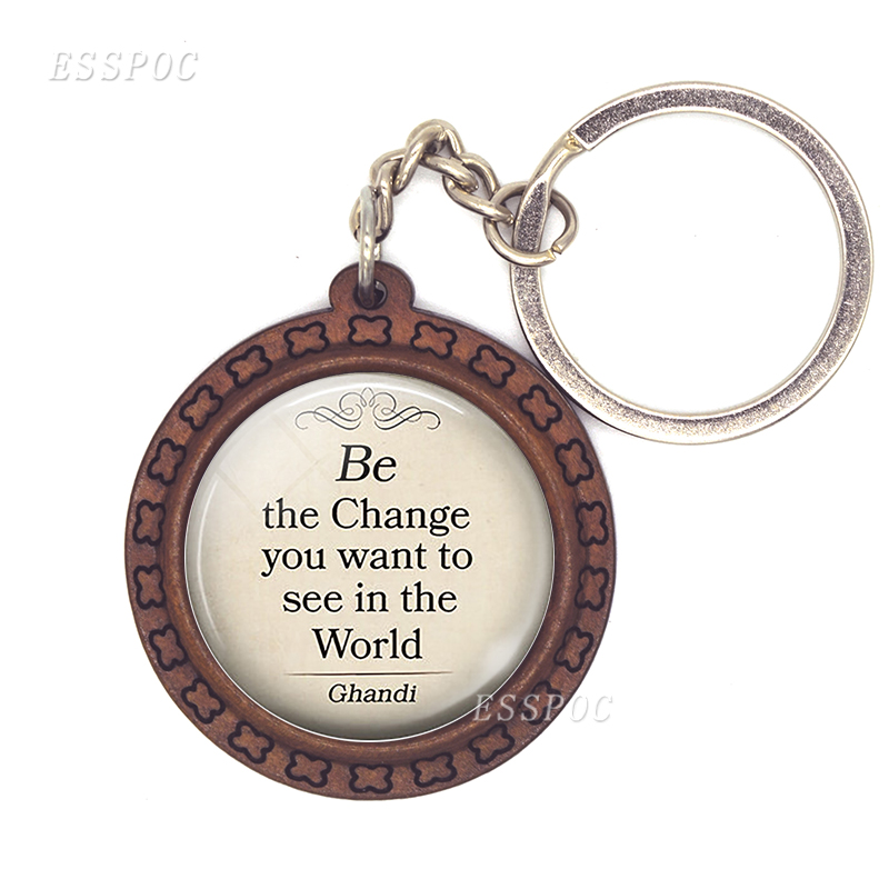 Classic Quotation Traveler's Gift Farewell Gift Key Chain Key Fob For Good Friend Birthday Present