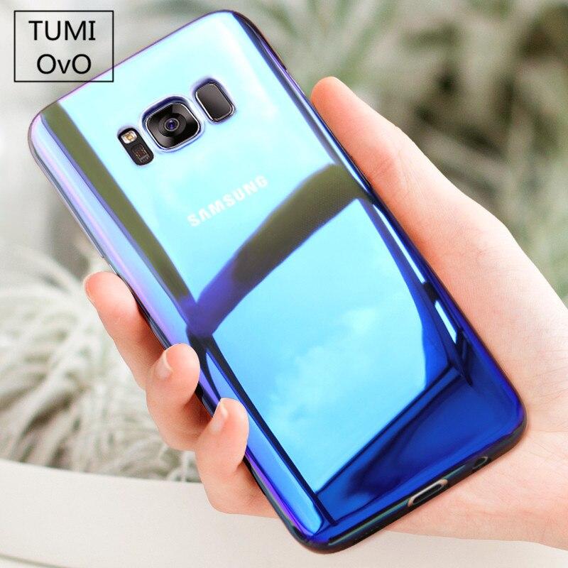 TUMI.OvO Hard Phone Case For Samsung Galaxy S8 Plus S6 S7 Edge S7 A3 A5 A7 J3 J5 J7 2016 2017 Pro Prime Cover Blue-Ray Gradient