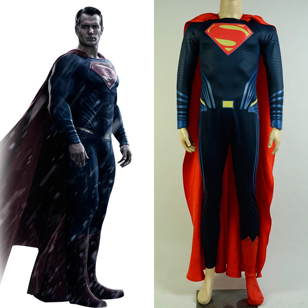 Batman v Superman Dawn of Justice Cosplay Superman Costume Superhero Cos Deluxe Version Sets Halloween Carnival For Men Cosplay