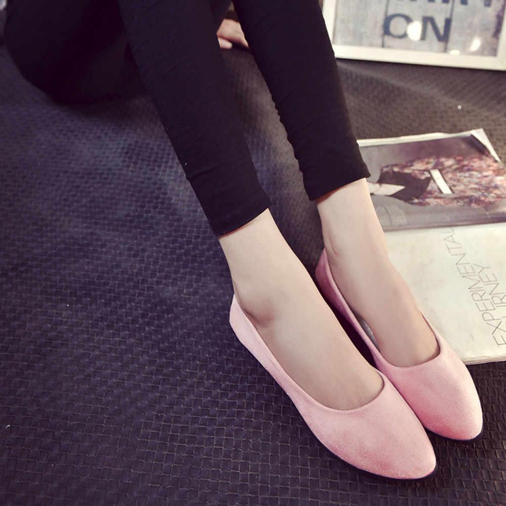 2019 สตรีสบายๆผู้หญิงรองเท้า Slip บนรองเท้าแบนรองเท้าแตะ Ballerina รองเท้า mocassim feminino Dropshipping # A20