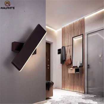 Modern LED Wall Lamp For Bedroom Bedside Wall Light Fixture Aluminum Rotate Indoor Wall Lamps For Living Room Lighting Luminaire