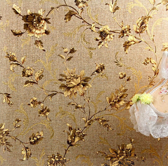 Luxury Floral Wall paper Modern Embossed Gold Wallpaper For Walls ...