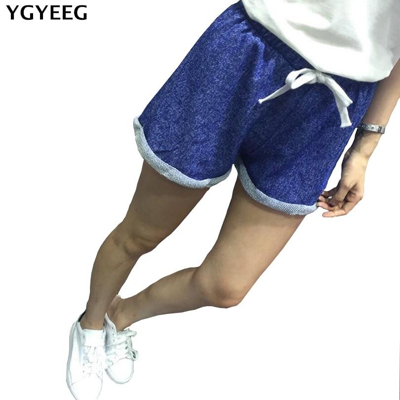 YGYEEG Summer Street Fashion   Shorts   Women Elastic Waist   Short   Pants Women All-match Loose Solid Soft Cotton Casual   Short   Femme