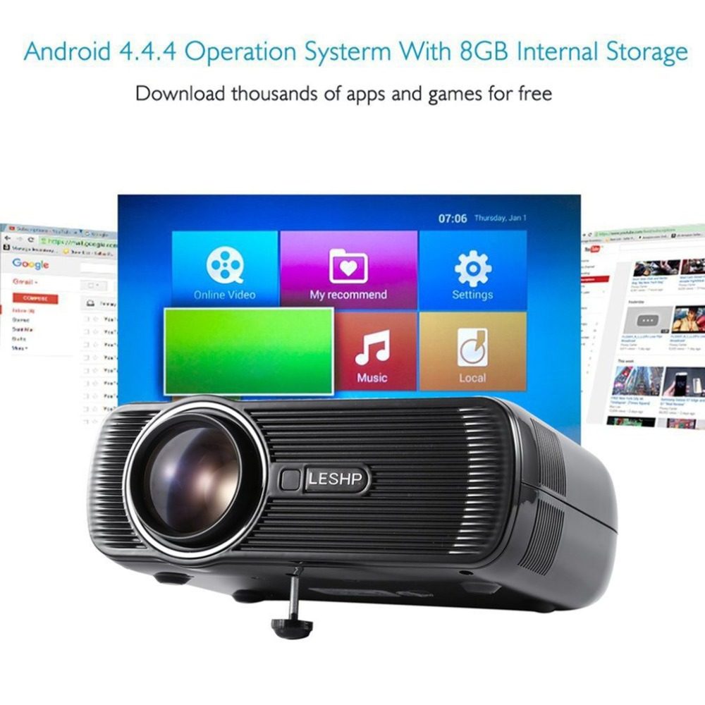 все цены на BL-80 Mini LED Projector Support HDMI AV USB HD 1080p Video Media Player For Home Theater Business Presentations & Meetings онлайн