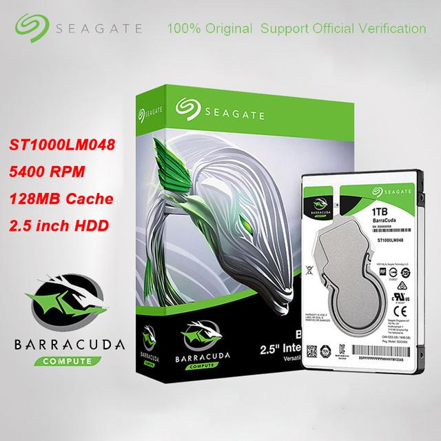 Oryginalne Seagate 1 TB BarraCuda dysk twardy dla laptopa interfejs SATA 6 Gb s 128 MB pamięci podręcznej 2 5-Cal wewnętrznego ST1000LM048 dysk twardy tanie i dobre opinie SATA 2 0 380g Wewnętrzny 5400 rpm SATA Interface 2 5 inch AgileArray 5400 rmp 140 MB s Loptop Black