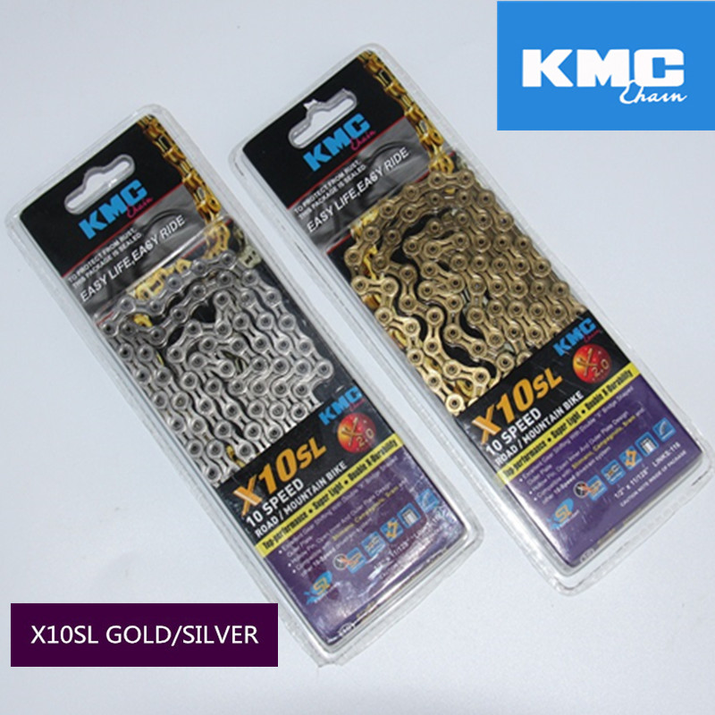 original KMC chain x10sl silver/gold chain 10speed cycling parts x8 x9 x9sl x10 x10el x11el x11sl original kmc chain x10sl silver gold chain 10speed cycling parts x8 x9 x9sl x10 x10el x11el x11sl