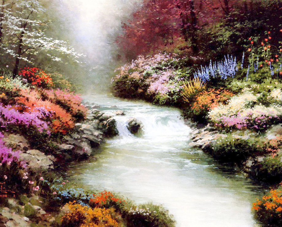 5D DIY Diamond Painting Crystal Landscape Cross Stitch River Rhinestone Diamond Painting 40x30 Kits For Embroidery With Beads