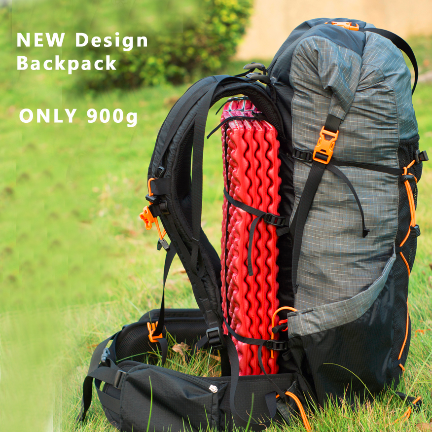 Camping Hiking Backpacking: 900g Only Water Resistant Hiking Backpack Ultralight