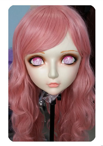 (DM024) Women/Girl Sweet Resin Half Head Kigurumi BJD Mask <font><b>Cosplay</b></font> Japanese <font><b>Anime</b></font> Lifelike Lolita Mask Crossdressing <font><b>Sex</b></font> <font><b>Doll</b></font> image