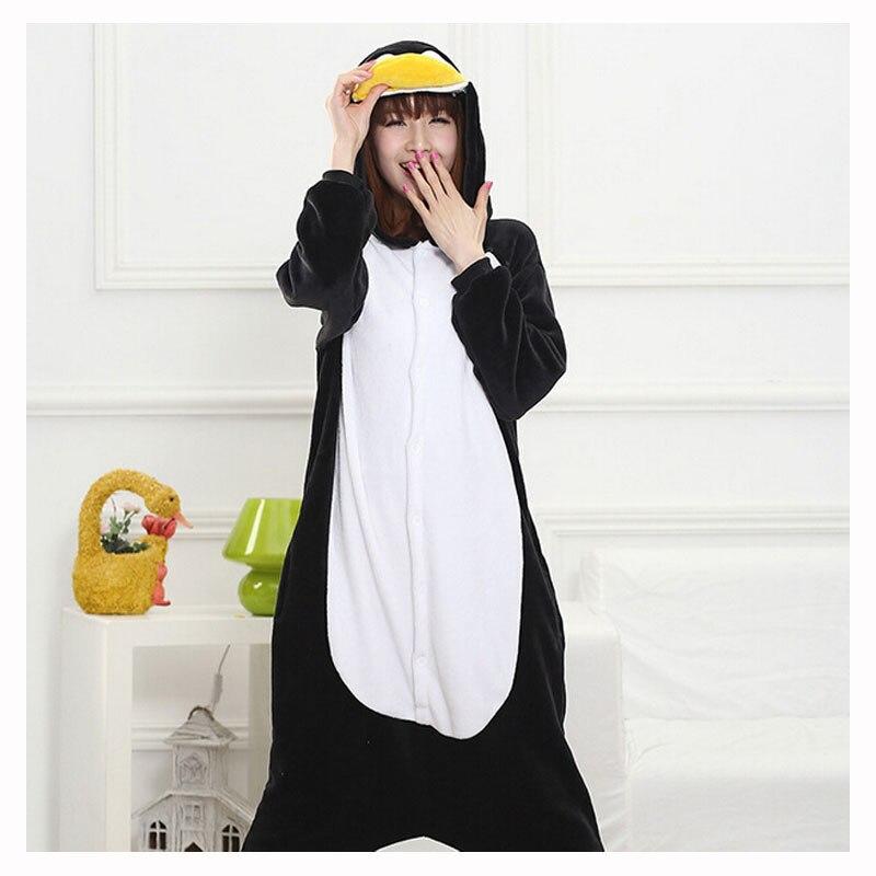 ea37fd3945 Kigurumi pingüino mono mujeres pijama adulto todo Animal Cosplay traje de  pijama de franela de la fiesta de invierno cálido ropa de dormir en de en  ...