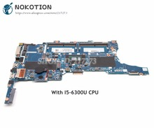 NOKOTION pour HP EliteBook 840 G3 carte mère d'ordinateur portable SR2F0 I5-6300U CPU UMA 826806-001 6050A2822301-MB-A01