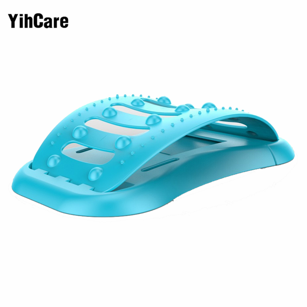 YihCare Back Massager Stretcher Support Cervical Spine Stretch Relax Pain Relief Lumbar Traction Fitness Back Straight Equipment root cervical spine root thoracic vertebrae root lumbar spine sacral coccyx human spinal spine model gasenxx 008 d