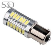 BA15S 33 SMD 5630 Светодиодный высокое Мощность 1156 лампы супер белый авто p21w R5W светодиодный автомобильные лампы Фары заднего хода Источник 12V D050