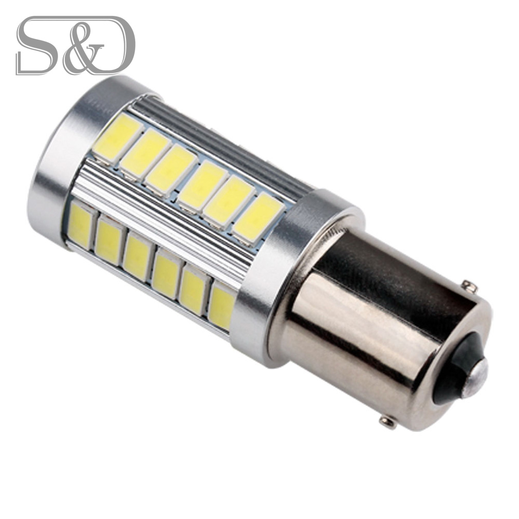 BA15S 33 SMD 5630 LED High Power 1156 Lamps Super White Auto p21w R5W led car bulbs Reverse Lights Source parking 12V D050 задние поворотники gfg 10pcs lot 1156 18 smd 5630 ba15s 18smd