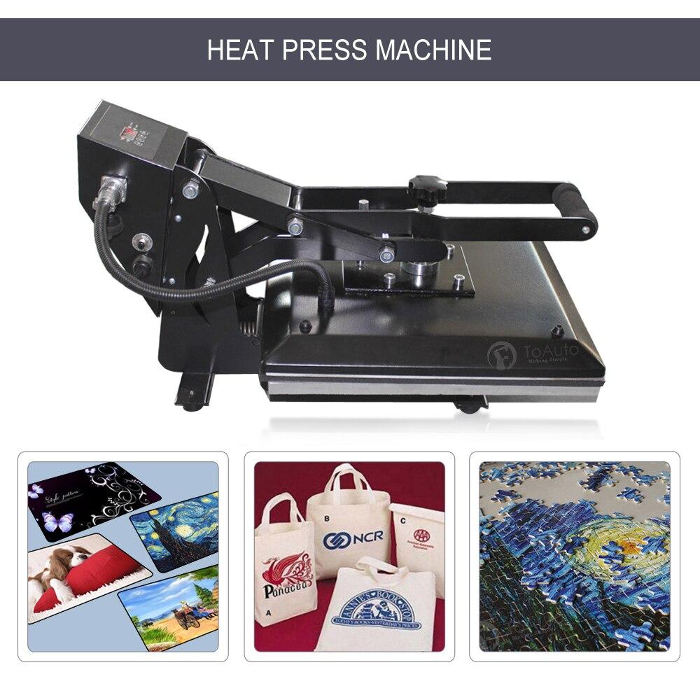 Machine de presse à chaud à clapet numérique t-shirt bricolage tapis de souris coque de téléphone Machine de Sublimation de transfert de chaleur 16