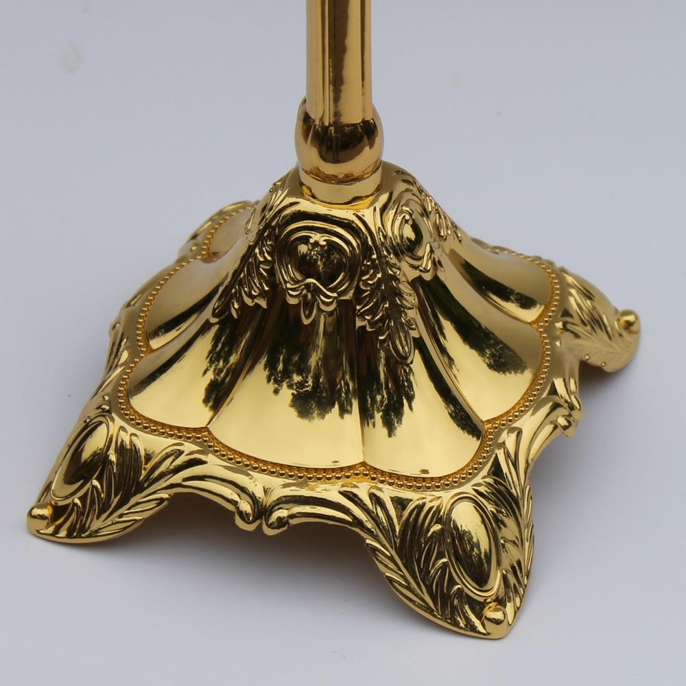 Yeni varış 83 cm parlak Altın kaplama merkezinde şamdan, çinko - Ev Dekoru - Fotoğraf 5