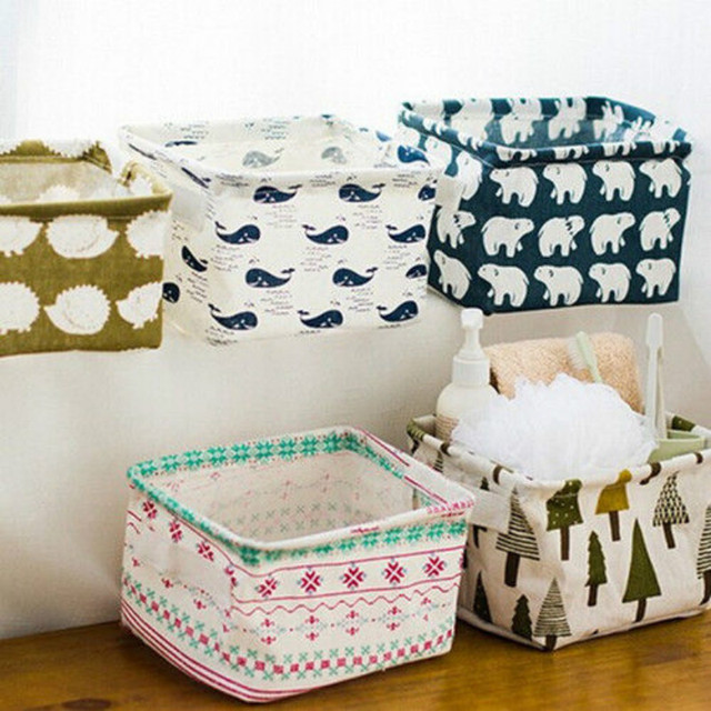 Printed Cute Cartoon Storage Bin Closet Toy Storage Box Container