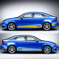 World Datong Decal Customized Car Sticker For Audi A1 A3 A4 A5 A6 RS3 RS4 RS5 Mark Levinson Both Side Body Sport Auto Stickers