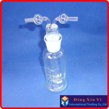 (2 pieces/lot) 250ml Lab Glass Gas Washing Bottle muencks (Porous tube),Monteggia gas washing bottle