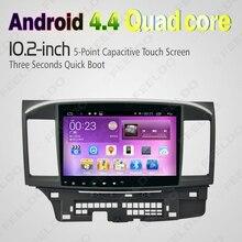 "10.2 ""quad core android 4.4 1024×600 radio de coche dvd gps de navegación multimedia central para mitsubishi lancer # j-4681"