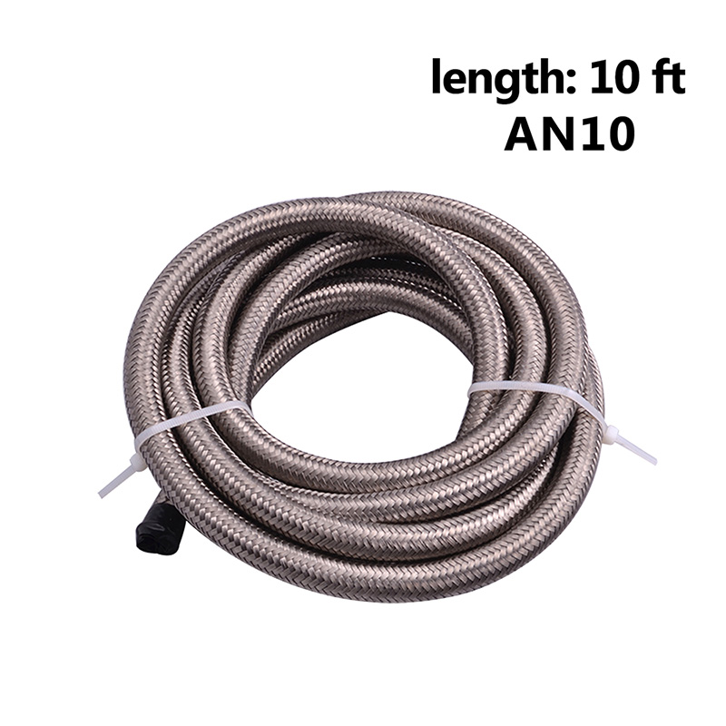 Image 5 - SPEEDWOW 3 Meter AN10 10AN Nylon & Stainless Steel Braided Hose+AN10 Hose End Fittings Adaptor Kit Oil/Fuel/Water Hose Line-in Fuel Supply & Treatment from Automobiles & Motorcycles