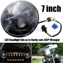Motorcycle  LED HeadLight Headlamp For Harley Davdson Touring Sportster 883 1200 Electra Street Glide Stickers Softail road king