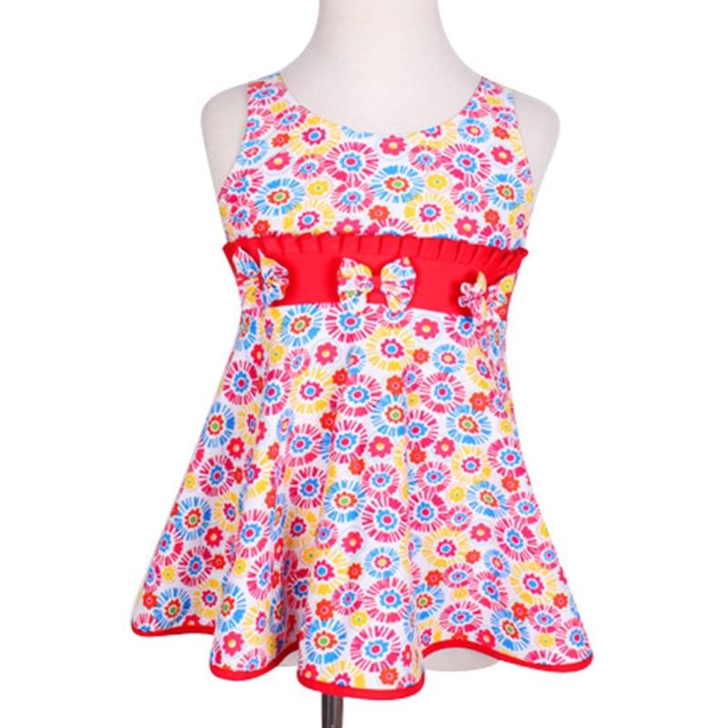 ragazze costume da bagno bambini un pezzo costumi da bagno vestito per le ragazze arco costumi