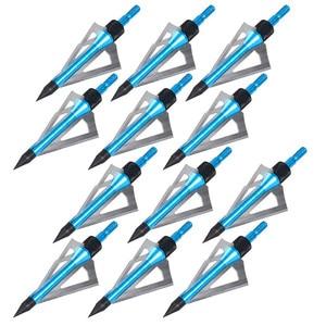 Image 2 - 도매 300 pcs 사냥 화살표 머리 100 곡물 브로드 헤드 양궁 스테인레스 스틸 3 블레이드 5 색 선택할 수 있습니다