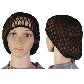 2Pcs Stretchable Fishnet Wig Cap Hair Net Mesh Wig & Weave Elastic Crochet Cap Wig Cap For Making Wigs With Adjustable Strap 2